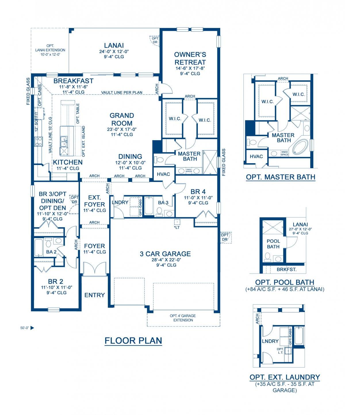 New Home Floorplans In Apollo Beach Bayshore I Detail Floorplan