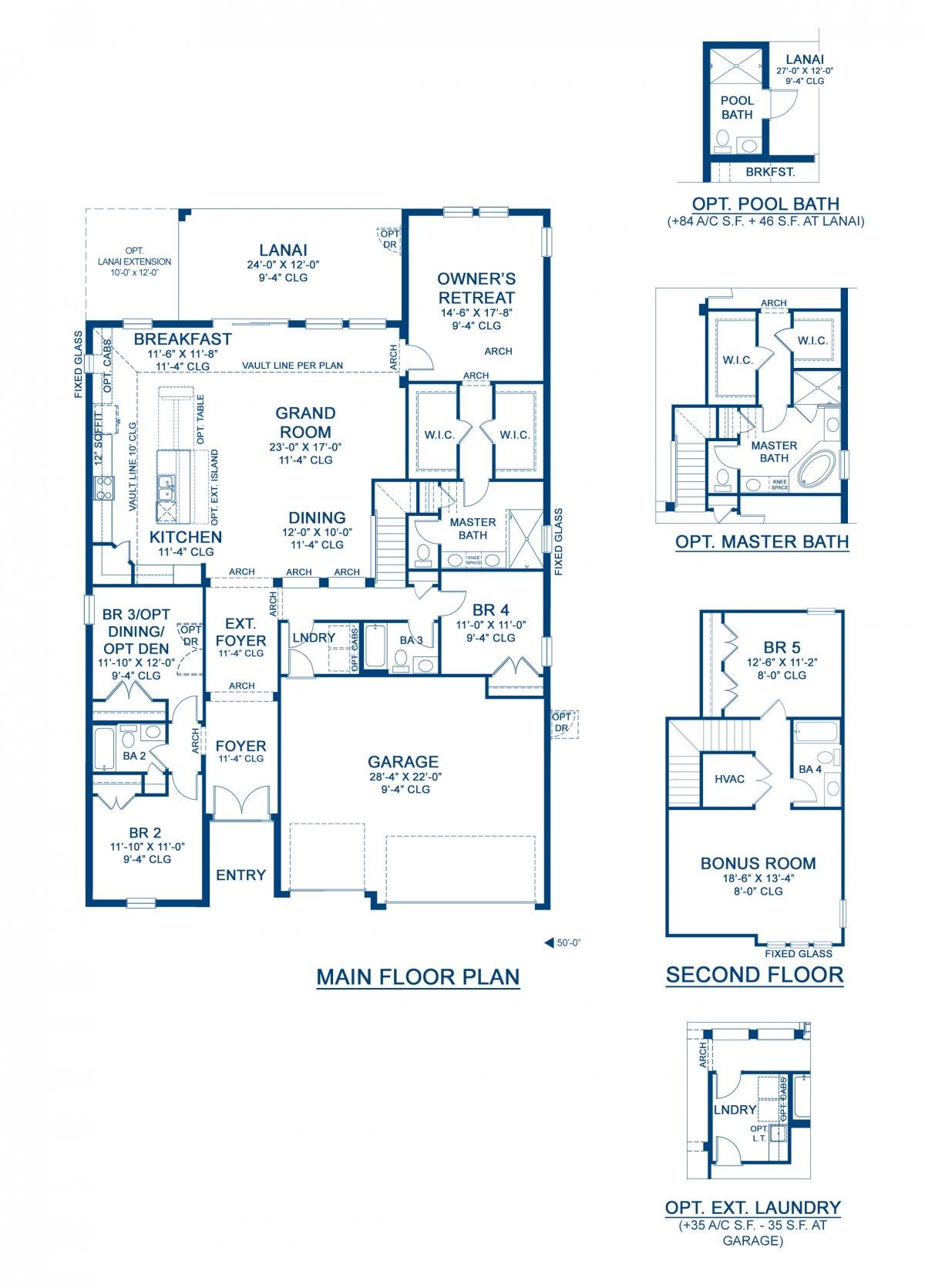 New Home Floorplans In Odessa Bayshore Ii Detail Floorplan